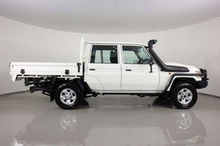 2020 Toyota Landcruiser 70 Series VDJ79R GXL White 5 Speed Manual Double Cab Chassis