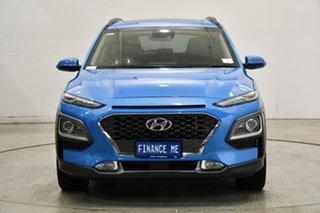 2020 Hyundai Kona OS.3 MY20 Highlander D-CT AWD Blue Lagoon 7 Speed Sports Automatic Dual Clutch.