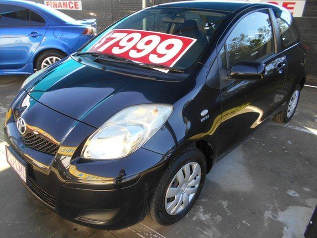 Used Toyota Yaris NCP90R MY09 YR Springwood, 2009 Toyota Yaris NCP90R MY09 YR Black 5 Speed Manual Hatchback