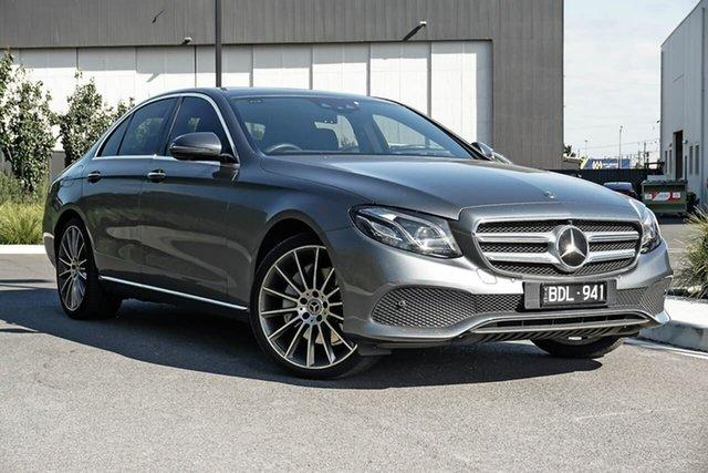 Used Mercedes-Benz E-Class W213 809+059MY E300 9G-Tronic PLUS Essendon Fields, 2019 Mercedes-Benz E-Class W213 809+059MY E300 9G-Tronic PLUS Grey 9 Speed Sports Automatic Sedan