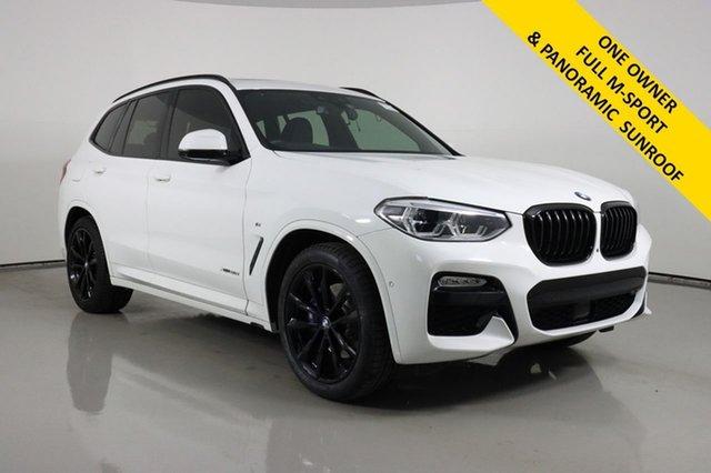 Used BMW X3 G01 xDrive30i M Sport Bentley, 2018 BMW X3 G01 xDrive30i M Sport White 8 Speed Automatic Wagon