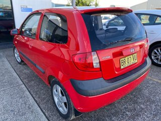 2005 Hyundai Getz TB MY06 SXI Red 5 Speed Manual Hatchback.