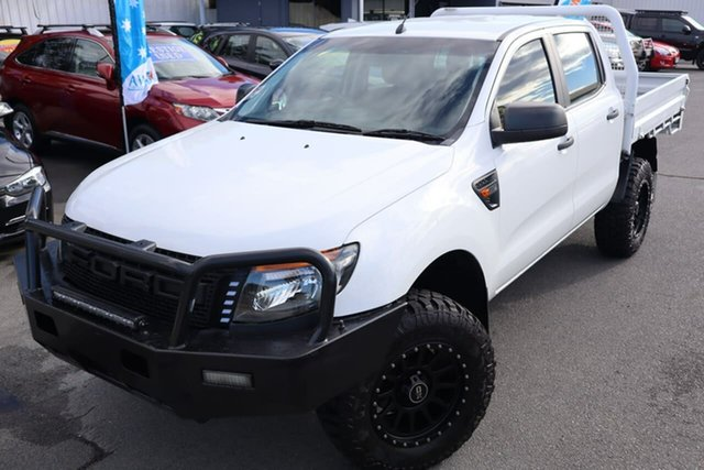Used Ford Ranger PX XL Moorooka, 2013 Ford Ranger PX XL White 6 Speed Manual Cab Chassis
