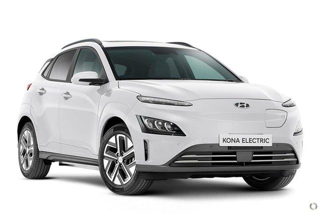 New Hyundai Kona Os.v4 MY21 electric Highlander Oakleigh, 2021 Hyundai Kona Os.v4 MY21 electric Highlander White 1 Speed Reduction Gear Wagon