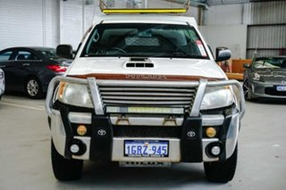 2008 Toyota Hilux KUN26R MY08 SR White 4 Speed Automatic Cab Chassis.