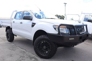 2013 Ford Ranger PX XL White 6 Speed Manual Cab Chassis