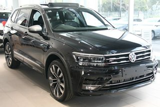 2021 Volkswagen Tiguan 5N MY21 162TSI Highline DSG 4MOTION Allspace Black 7 Speed.