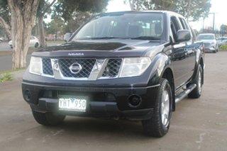 2010 Nissan Navara D40 ST (4x4) Black & Chrome 6 Speed Manual Dual Cab Pick-up