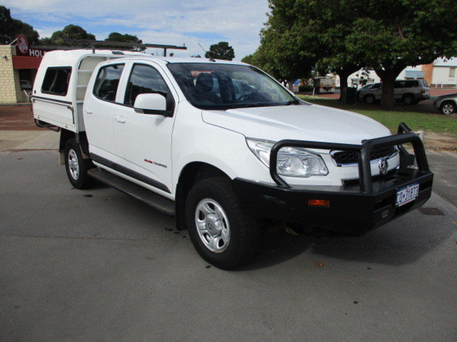 Used Holden Colorado RG MY15 Katanning, 2015 Holden Colorado RG MY15 LS 4x4 White 6 Speed Automatic Dual Cab