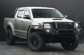 2013 Toyota Hilux KUN26R MY12 SR5 Double Cab Sterling Silver 5 Speed Manual Utility.