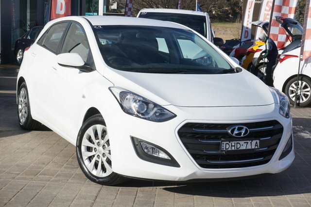 Used Hyundai i30 GD4 Series II MY17 Active Phillip, 2016 Hyundai i30 GD4 Series II MY17 Active White 6 Speed Sports Automatic Hatchback