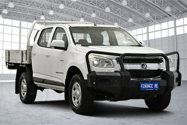 Used Holden Colorado RG MY13 LX Crew Cab Victoria Park, 2013 Holden Colorado RG MY13 LX Crew Cab White 5 Speed Manual Cab Chassis