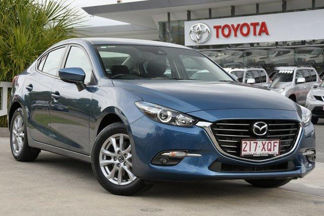 Pre-Owned Mazda 3 BN5278 Maxx SKYACTIV-Drive North Lakes, 2017 Mazda 3 BN5278 Maxx SKYACTIV-Drive Blue 6 Speed Sports Automatic Sedan