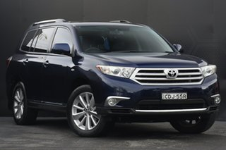 2011 Toyota Kluger GSU45R MY11 Grande AWD Blue 5 Speed Sports Automatic Wagon.