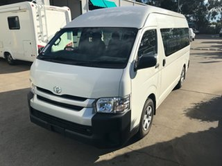 2018 Toyota HiAce KDH223R Commuter High Roof Super LWB French Vanilla 4 speed Automatic Bus.
