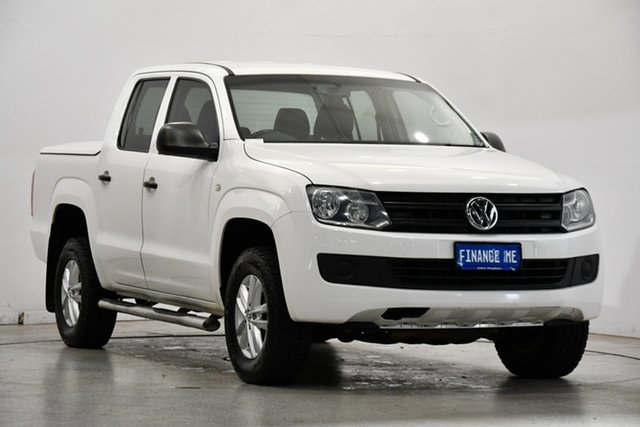 Used Volkswagen Amarok 2H MY15 TDI420 4MOTION Perm Core Victoria Park, 2015 Volkswagen Amarok 2H MY15 TDI420 4MOTION Perm Core White 8 Speed Automatic Utility