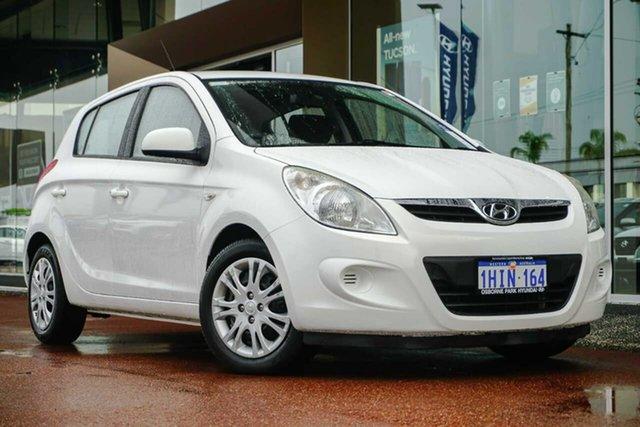 Used Hyundai i20 PB MY12 Active Osborne Park, 2011 Hyundai i20 PB MY12 Active White 4 Speed Automatic Hatchback