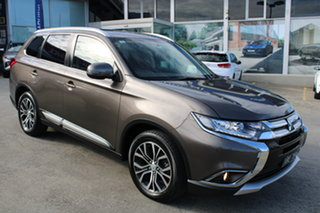 2017 Mitsubishi Outlander ZK MY17 LS 2WD Brown 6 Speed Constant Variable Wagon.