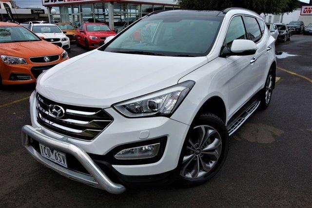 Used Hyundai Santa Fe DM2 MY15 Highlander Seaford, 2014 Hyundai Santa Fe DM2 MY15 Highlander White 6 Speed Sports Automatic Wagon