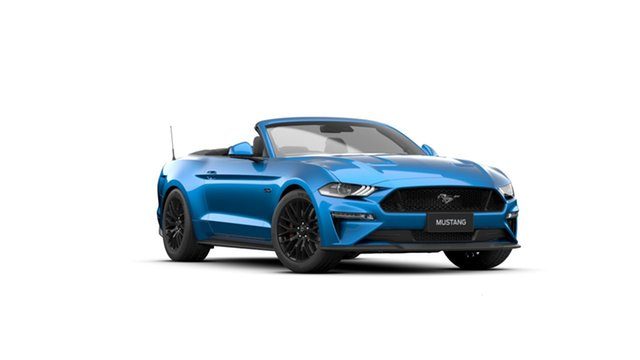 New Ford Mustang FN 2021.50MY GT Townsville, 2021 Ford Mustang FN 2021.50MY GT Velocity Blue 10 Speed Sports Automatic Convertible