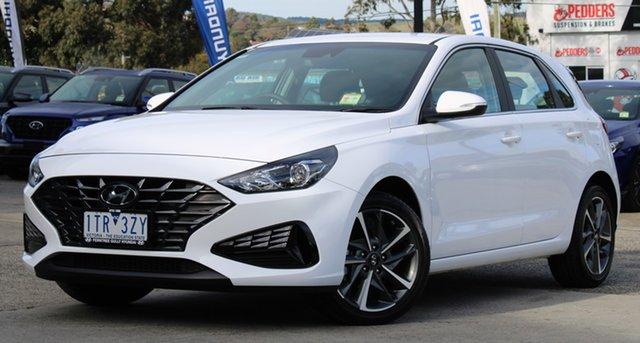 Demo Hyundai i30 PD.V4 MY21 Active Ferntree Gully, 2021 Hyundai i30 PD.V4 MY21 Active Polar White 6 Speed Sports Automatic Hatchback