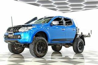2016 Mitsubishi Triton MQ MY17 GLS (4x4) Blue 6 Speed Manual Dual Cab Utility
