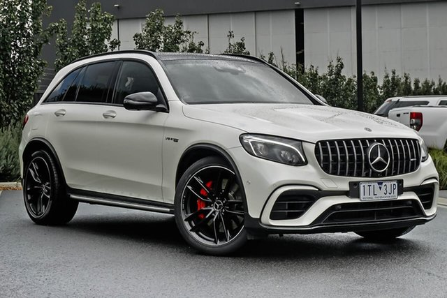 Used Mercedes-Benz GLC-Class C253 GLC63 AMG Coupe SPEEDSHIFT MCT 4MATIC+ S Essendon Fields, 2018 Mercedes-Benz GLC-Class C253 GLC63 AMG Coupe SPEEDSHIFT MCT 4MATIC+ S White 9 Speed