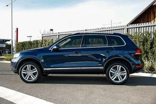 2012 Volkswagen Touareg 7P MY12.5 V6 TDI Tiptronic 4MOTION Blue 8 Speed Sports Automatic Wagon.