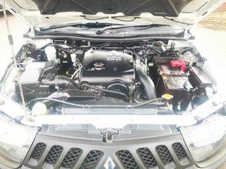 2009 Mitsubishi Triton ML MY09 GLX White 5 Speed Manual Double Cab Utility