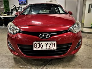 2014 Hyundai i20 PB MY14 Active Cherry Cocktail Red 4 Speed Automatic Hatchback.