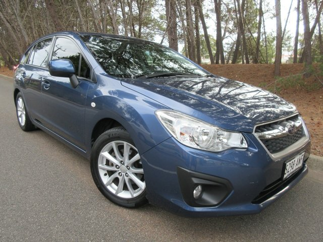 Used Subaru Impreza G4 MY13 2.0i-L Lineartronic AWD Reynella, 2013 Subaru Impreza G4 MY13 2.0i-L Lineartronic AWD Blue 6 Speed Constant Variable Hatchback
