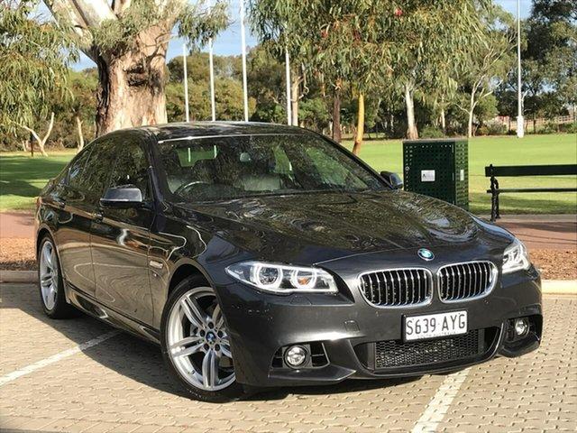 Used BMW 5 Series F10 LCI 528i Steptronic M Sport Adelaide, 2013 BMW 5 Series F10 LCI 528i Steptronic M Sport Grey 8 Speed Sports Automatic Sedan
