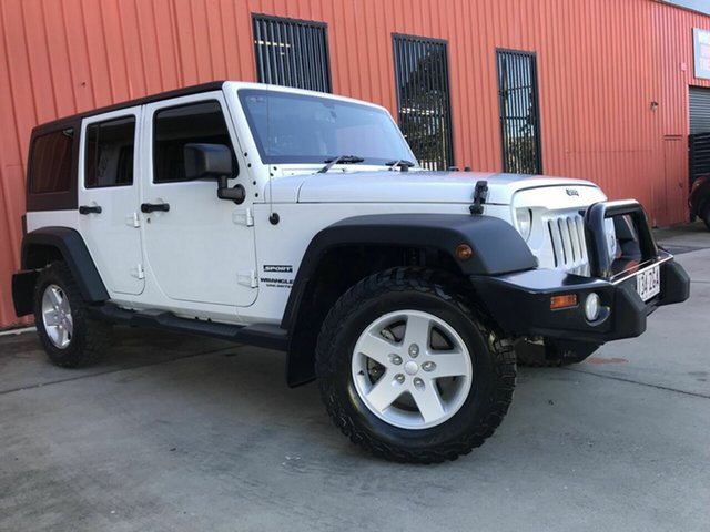 Used Jeep Wrangler JK MY2016 Unlimited Sport Molendinar, 2016 Jeep Wrangler JK MY2016 Unlimited Sport White 5 Speed Automatic Softtop