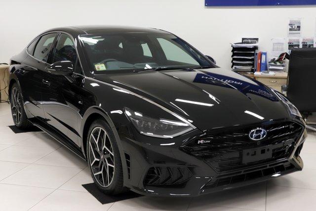 New Hyundai Sonata DN8.V1 MY21 N Line DCT Aspley, 2021 Hyundai Sonata DN8.V1 MY21 N Line DCT Midnight Black 8 Speed Sports Automatic Dual Clutch Sedan