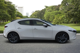 2020 Mazda 3 BP2H7A G20 SKYACTIV-Drive Touring White Pearl 6 Speed Sports Automatic Hatchback.