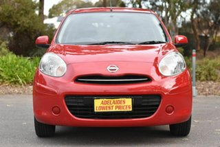 2011 Nissan Micra K13 ST-L Red 4 Speed Automatic Hatchback.