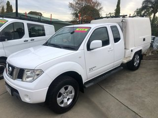 2011 Nissan Navara D40 MY11 ST-X King Cab White 5 Speed Automatic Cab Chassis