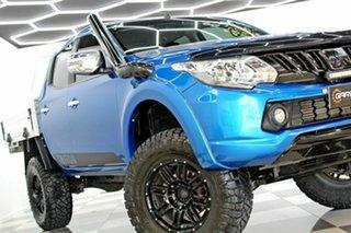 2016 Mitsubishi Triton MQ MY17 GLS (4x4) Blue 6 Speed Manual Dual Cab Utility.