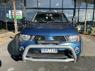2006 Mitsubishi Triton MK MY06 GLX-R (4x4) Blue 5 Speed Manual Double Cab Utility.