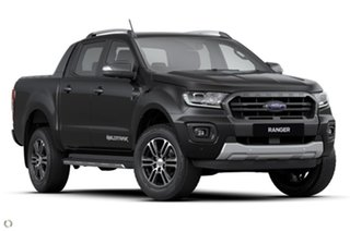 2021 Ford Ranger PX MkIII 2021.25MY Wildtrak Black 10 Speed Sports Automatic Double Cab Pick Up.