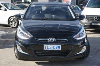 2016 Hyundai Accent RB3 MY16 SR Black 6 Speed Sports Automatic Hatchback.