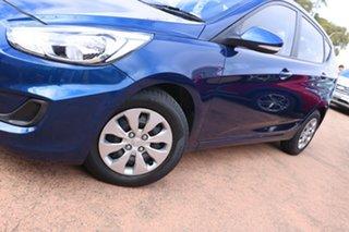 2015 Hyundai Accent RB3 MY16 Active Blue 6 Speed CVT Auto Sequential Hatchback.