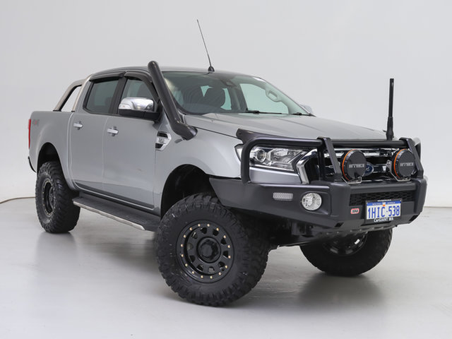 Used Ford Ranger PX MkII XLT 3.2 (4x4), 2015 Ford Ranger PX MkII XLT 3.2 (4x4) Silver 6 Speed Automatic Dual Cab Utility