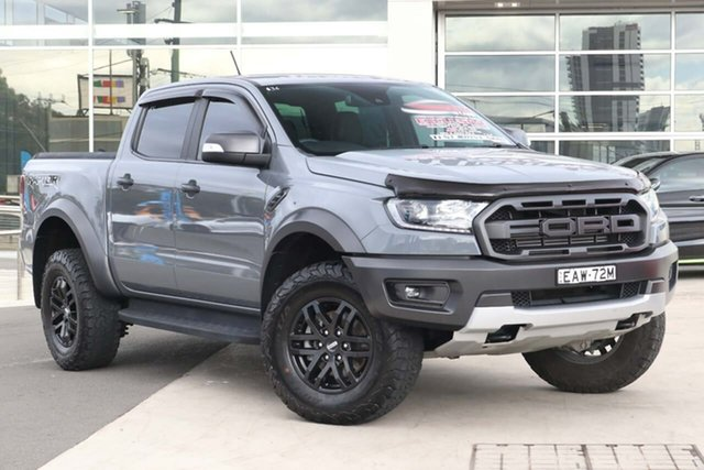 Used Ford Ranger PX MkIII 2019.00MY Raptor Liverpool, 2019 Ford Ranger PX MkIII 2019.00MY Raptor Conquer Grey 10 Speed Sports Automatic Double Cab Pick Up
