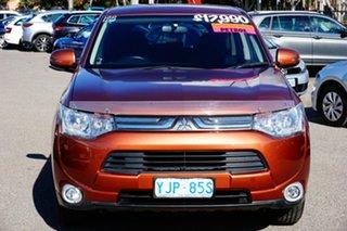 2012 Mitsubishi Outlander ZJ MY13 ES 2WD Brown 6 Speed Constant Variable Wagon.