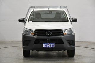 2020 Toyota Hilux TGN121R Workmate 4x2 White 6 Speed Sports Automatic Cab Chassis.