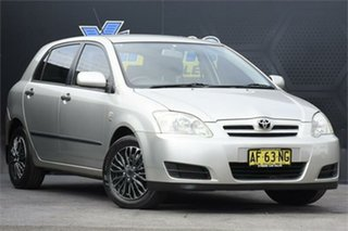 2005 Toyota Corolla ZZE122R 5Y Ascent Silver 4 Speed Automatic Hatchback.