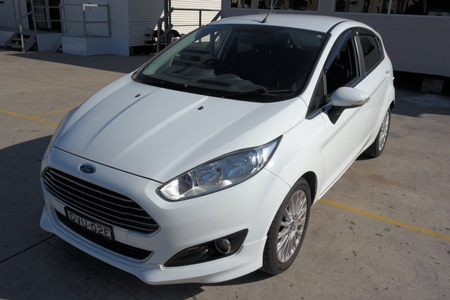 Used Ford Fiesta WZ Sport PwrShift Maryville, 2018 Ford Fiesta WZ Sport PwrShift White 6 Speed Sports Automatic Dual Clutch Hatchback