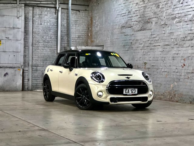Used Mini Hatch F55 Cooper S Mile End South, 2018 Mini Hatch F55 Cooper S White 6 Speed Sports Automatic Hatchback