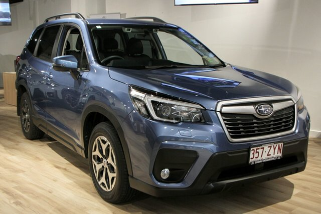 Demo Subaru Forester S5 MY21 2.5i-L CVT AWD Indooroopilly, 2020 Subaru Forester S5 MY21 2.5i-L CVT AWD Horizon Blue 7 Speed Constant Variable Wagon